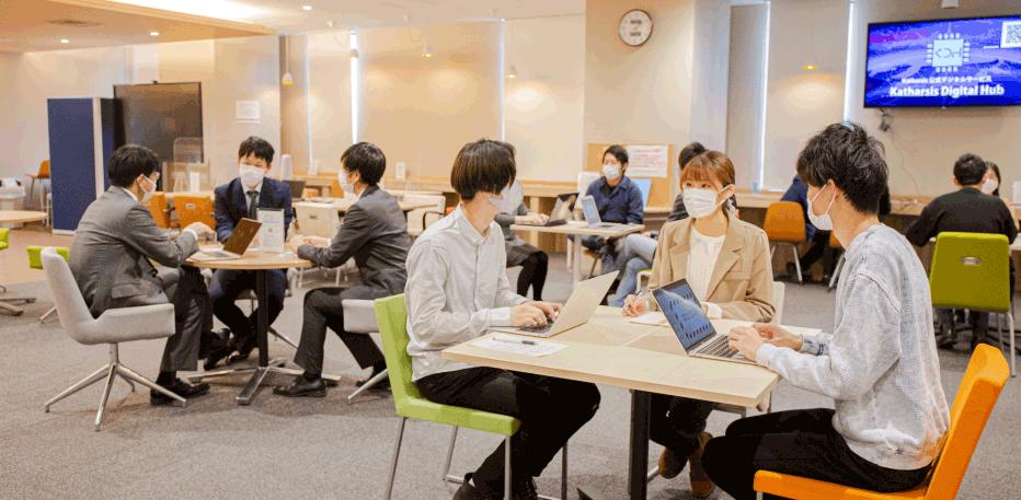 オープンイノベーションカフェ使用イメージ